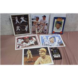 Lot Of Baseball Photo Prints And Merchandise