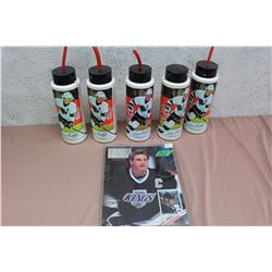 Wayne Gretzky Cups, W/ First Issue Of Beckett Hockey Magazine