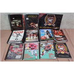 Huge Lot Of Calgary Stampeders Guides (10) (1995, 1996, 1997, 1998, 1999, 2000, 2001, 2003, 2004, 20
