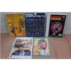 Lot Of Harlem Globetrotters Related Literature, and Slips