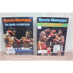 Pair of Sports Illustrated Magazines, Historical Boxing Issues
