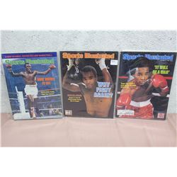 Lot of Boxing Related Sports Illustrated Magazines (3)
