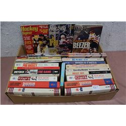 Box Full Of Hockey Related Booklets and Books