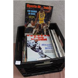 Crate Full Of Sports Magazines