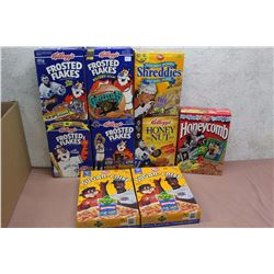 Lot of Collectible Sports Themed Promotional Cereal Boxes (9)