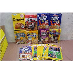 Lot of Collectible Sports Themed Promotional Cereal Boxes (8) W/ Cardboard Cutouts