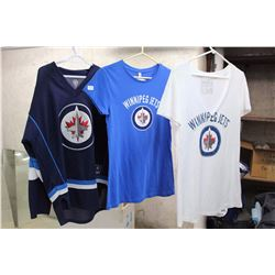 Lot of New NHL Winnipeg Jets Shirts, With Tags (3)