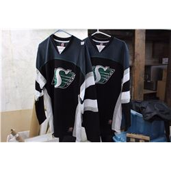 Pair of New Saskatchewan Roughriders Jerseys, With Tags