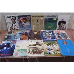 Lot of Assorted Baseball Programs, Magazines