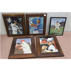 Lot Of Framed Baseball Photos (5)