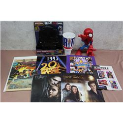 Lot Of Entertainment Items (Comic, Star Wars Angry Birds, Spiderman Figure, Calendars, Etc.)