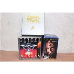 Star Trek motion pictures VHS collections set with extra Star Trek VHS