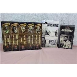 Bonanza Collection VHS set, with Collectors Edition Gunsmoke, and Dragnet VHS