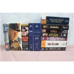 Lot of Adventure Themed VHS (Indiana Jones, Jackie Chan, JFK, Casablanca, etc.)
