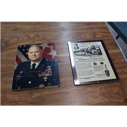 Pinging Champion Auto Advertisement W/ Autographed Photo Of General Norman Schwarzkopf, Centcom