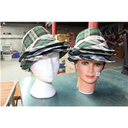 Lot of Hats With Mannequin Heads