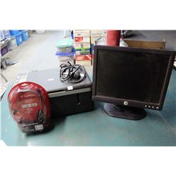 Lot of Computer-Related (Printer, Headset, Monitor)