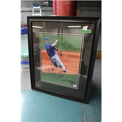Signed Brett Lawrie Framed Photograph
