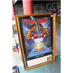 "Framed  ""The War"" Boxing Match Advertisement"