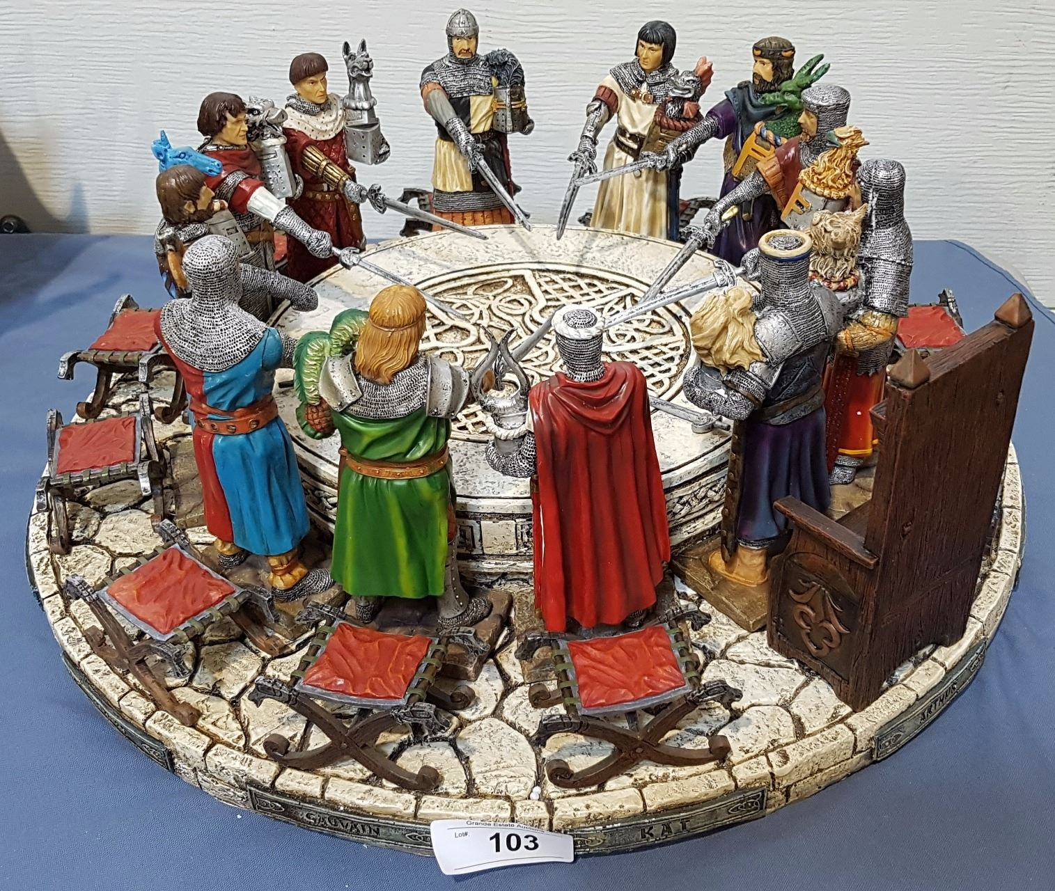 King arthur and the knights of the round table large diorama - King arthur and the knights of the round table ...