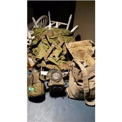 Military Canteen, Military Backpack, Radiac Meter