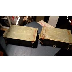 Military Ammo Boxes (2)