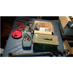 Military Ammo Box, & Mixed Lot Of Chains, Etc.