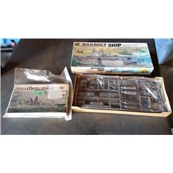 Pair Of Model Boats (Revell Assault Ship 1/720 Scale, & Japanese Battleship 1/150 Scale)