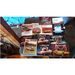 Lot Of Car Brochures, Pamphlets