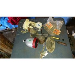 Lot Of Blow Torches, Vintage Telephones & Misc.