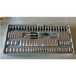 "1/4"" Ratchet & Socket Set Mastercraft Maximum"