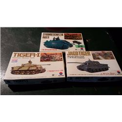 Tank Models (3) (One Sealed) Complete