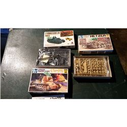 Tank Models (3) (1 Sealed) Complete