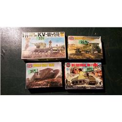 Models (4) (3 Sealed) Complete