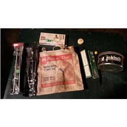 Hiawatha Water Bag, Gun-Related Items, Tin