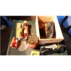 Misc. Gun-Related Items With Box, & Ammunition