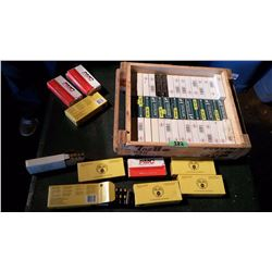 Assorted Ammunition Boxes With Empty Shells & Wooden Ammunition