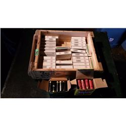 Assorted Ammunition Boxes With Empty Shells, Full Boxes Of Shotgun Shells (2) With Wooden Ammunition