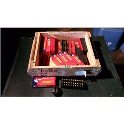 Wooden Ammunition Box & Assorted Ammunition Boxes With Empty Shells