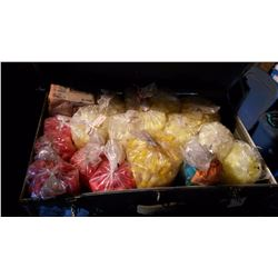 Bags Of Shotgun Wads/Plugs (17) With Storage Trunk