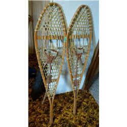 53x12 Inch Vintage Snow Shoes With Harness
