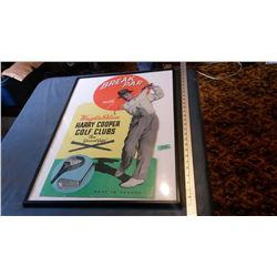 Cardboard Gold Display In Frame (Wright & Ditson)