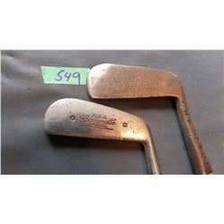 Golf Clubs With Wooden Shafts (Both Are HBC Carnous Tie Special)