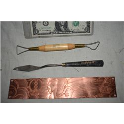 GRANT MCCUNE PERSONAL SCULPTING TOOLS AND ETCHING ART