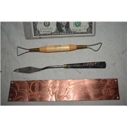 ZZ-CLEARANCE GRANT MCCUNE PERSONAL SCULPTING TOOLS AND ETCHING ART