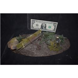 ZZ-CLEARANCE CABIN IN THE WOODS MINIATURE WOODS SET WITH BEAR TRAP
