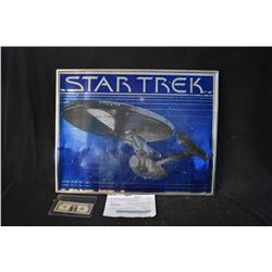 STAR TREK THE MOTION PICTURE MYLAR CAST SIGNED BY GRANT MCCUNE