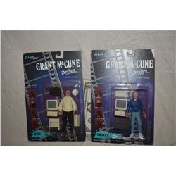 ZZ-CLEARANCE GRANT MCCUNE 1 OF A KIND TOYS SEALED ON CARDS LOT OF 2