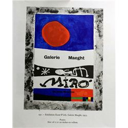 Signed Miro Offset Lithograph