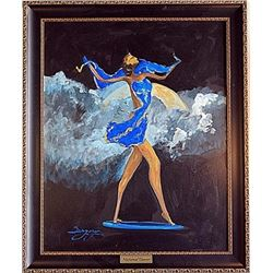"Oil on Canvas ""Nocturnal Dancer"" by Sergey"